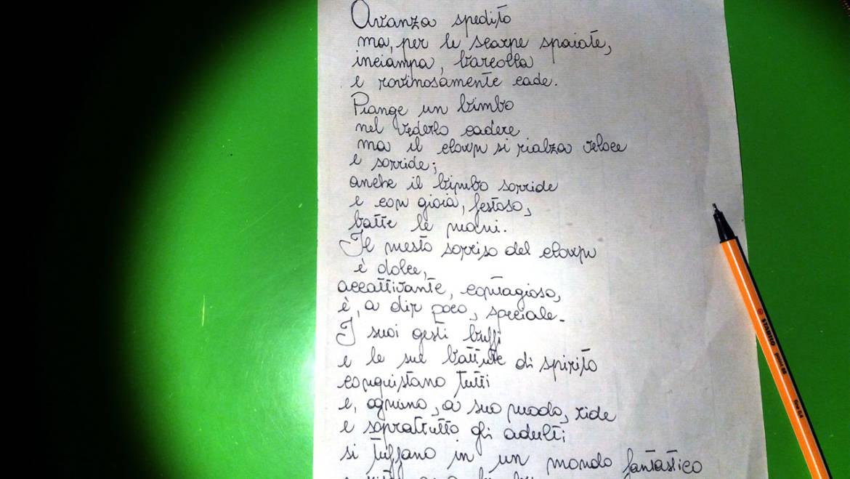 La professoressa Cirasino, ospite nella RSA Mediterranea di Ostuni, ci omaggia di una sua poesia