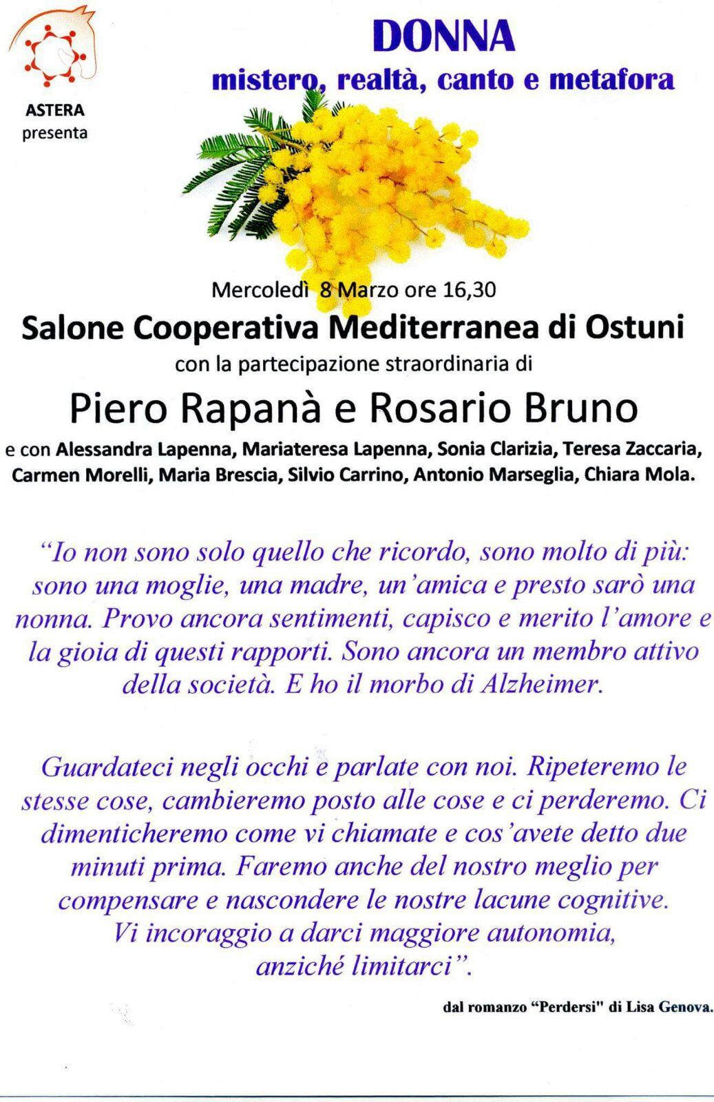 Festa della donna nella RSA Mediterranea Onlus di Ostuni