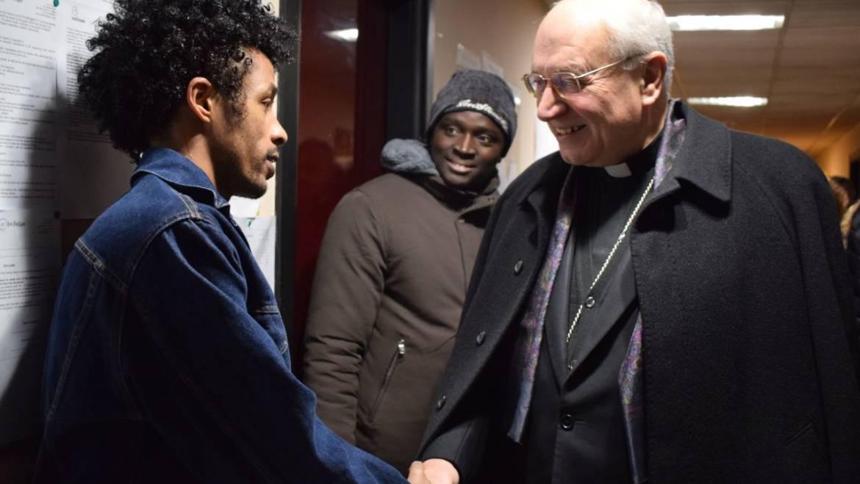 Cas Viterbo, Medihospes accoglie prefetto e vescovo in visita al centro d'accoglienza