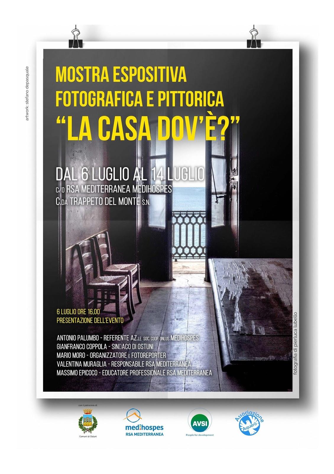 "Rsa Mediterranea Medihospes, inaugurata mostra fotografica ""La casa dov'è?"""
