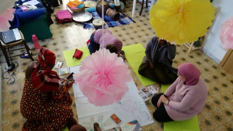 Sprar Grottarossa, le migranti a scuola di danza creativa